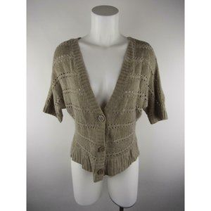 Delia's Acrylic Pointelle Knit Cardigan Sweater